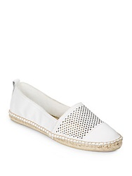 Kenneth Cole Reaction Boom Arang Perforated Leather Espadrilles White