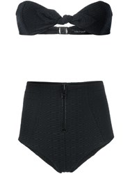 Lisa Marie Fernandez Poppy High Rise Bikini Black