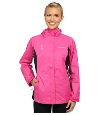 Columbia Tested Tough In Pink Rain Jacket Ii Pink Ice Black Women's Coat