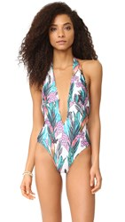 Minkpink Texta Tropical Plunge One Piece Multi
