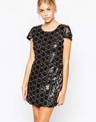 Hedonia Ashley Dress In Sequin Circles Sequin Grey