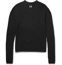 Rick Owens Ribbed Cashmere Blend Sweater Black
