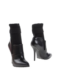 Grey Mer Ankle Boots Black