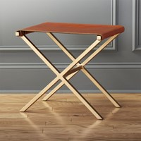 Cb2 Leather Director's Stool