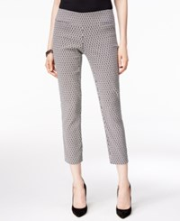Alfani Petite Printed Pull On Capris Only At Macy's Geo Neut Ikat