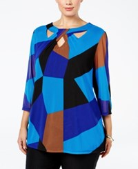 Inc International Concepts Plus Size Colorblocked Cutout Tunic Only At Macy's Mod Blocks