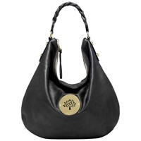 Mulberry Daria Leather Medium Hobo Bag Black