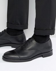 Selected Marc Toe Cap Shoes In Black Leather Black