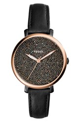 Fossil Women's Jacqueline Leather Strap Watch 36Mm