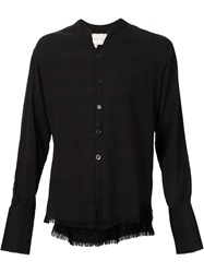 Greg Lauren Frayed Edge Shirt Black