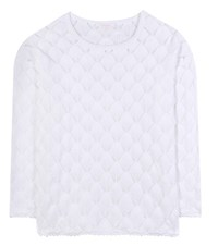 See By Chloe Crochet Knit Cotton Sweater White