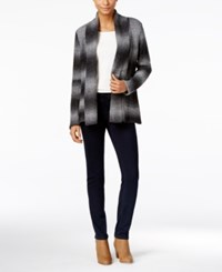 Styleandco. Style Co. Shawl Collar Striped Cardigan Only At Macy's Grey Combo