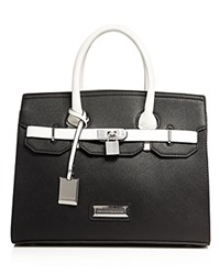 Catherine Catherine Malandrino Amber Colorblock Satchel Compare At 118 Black