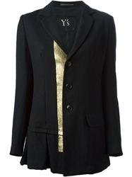 Y's Flared Hem Jacket Black