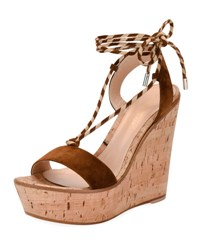 Gianvito Rossi Nautical Striped Lace Up Sandal Texas