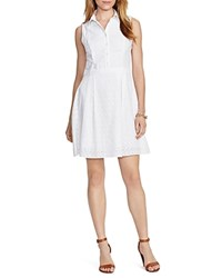 Lauren Ralph Lauren Cotton Eyelet Shirt Dress White