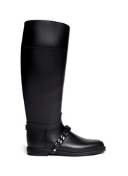 Givenchy Equestrian Rubber Rainboots Black