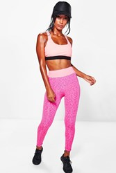 Boohoo Bright Fitted Leggings Pink