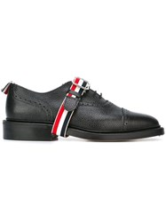 Thom Browne Buckled Oxford Shoes Black