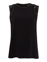 Episode Lace And Stud Top Black