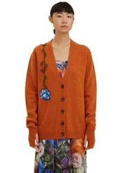 Christopher Kane Lost And Found Embroidered Flower Cardigan Orange