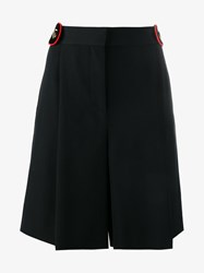 Givenchy Wool Knee Length Shorts Black Red