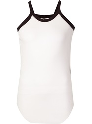 Lost And Found Mesh Tank Top White