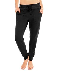 Betsey Johnson Stretch Fleece Skinny Sweatpants Black