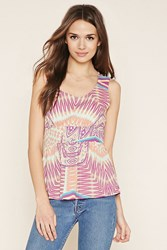 Forever 21 Contemporary Abstract Top