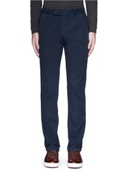 Armani Collezioni Slim Fit Cotton Chinos Blue