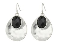 The Sak Color Scoop Drop Earrings Black Silver Earring