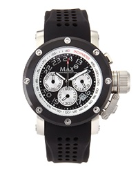 Max Watches Sports Chronograph Watch Black Silver