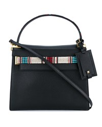 Valentino My Rockstud Beaded Grained Leather Bag Black Multi Coloured