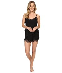 P.J. Salvage Lace Trim Romper Black Women's Jumpsuit And Rompers One Piece