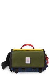 Topo Designs Men's 'Field' Messenger Bag Green Navy Olive