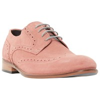 Bertie Bubblegum Suede Lace Up Brogues Pink