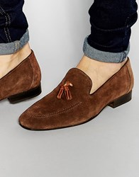 Red Tape Tassel Loafers In Brown Suede Brown