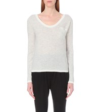 Allude Waffle Knit Cashmere Jumper Grey