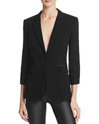 Elizabeth And James Single Button Blazer Black