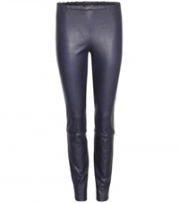 Stouls Leather Trousers Blue