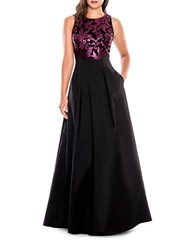 Decode 1.8 Sleeveless Sequined Bodice Gown Black