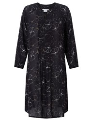 John Lewis Collection Weekend By Flower Shadow Print Dress Black