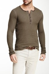 Rogue Long Sleeve Thermal Henley Tee Brown