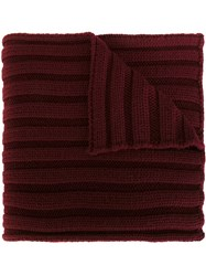 Moncler Ribbed Scarf Red