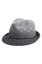Nordstrom Ombre Knit Fedora Charcoal Heather