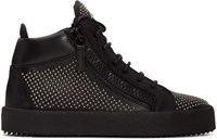 Giuseppe Zanotti Black Studded London High Top Sneakers