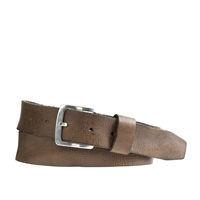 J.Crew Distressed Leather Belt Warm Coal