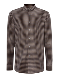 Peter Werth Florey Micro Collar Check Shirt Sand