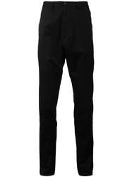 Julius Drop Crotch Pants Black