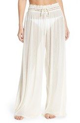 Women's Robin Piccone 'Sophia' Mesh Cover Up Pants Cream